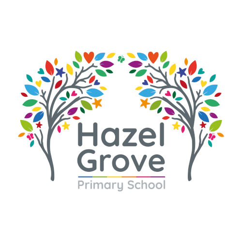Hazel Grove Primary School logo - link to the website home page
